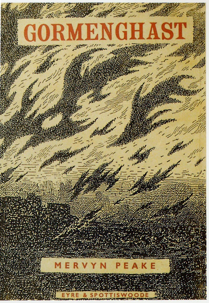 Illustrated Book Cover Number : Mervyn peake the novelist and author of gormenghast