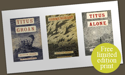 Free art print showing the original covers of the Titus books